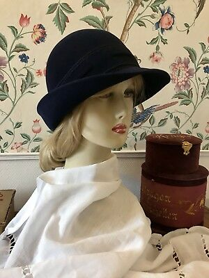 Vintage 20 er 30 er Jahre Damen Hut Cloche Gatsby Downton Abbey Meyser