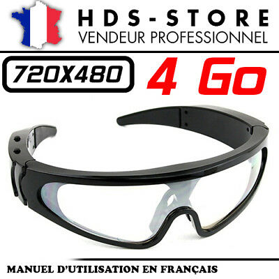 8f50e8e430 Lunette Masque De Soleil Camera Espion Invisible Sungm 4 Go 720X480 Photo  Vidéo