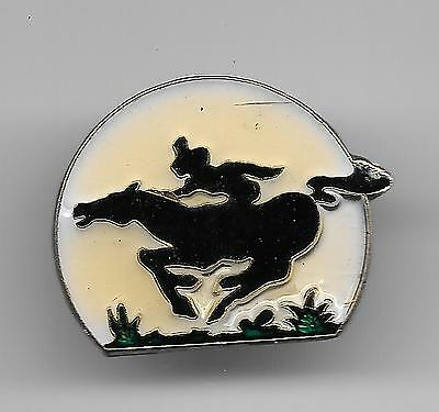 Vintage Pony Express on the Run old enamel pin