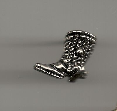 Vintage Fancy Tooled Cowboy Boot Sculpted P old metal lapel pin