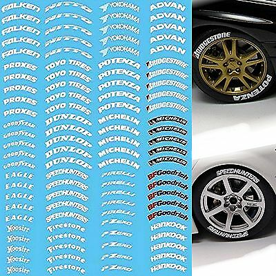TYRES DECAL TIRES Labeling #3 - 1:18 Decal