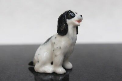 Figurine Animal Ceramic Cocker Spaniel Miniature Statue Collectible Decor Gift