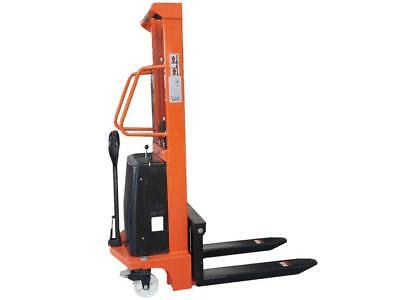 1.5 Ton x 2.5 Metre Semi Electric Manual HAND STACKER TRUCK - 1500KG High Lift