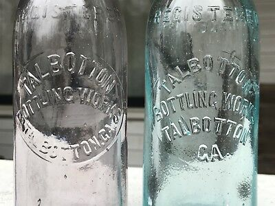 Talbotton GA Crown Top Soda Bottles X 2