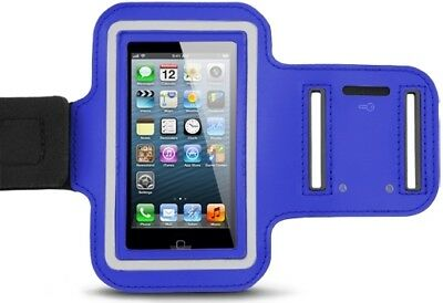 Sports Exercise Armband Phone Holder for Apple iPhone 4 4S iPod Blue