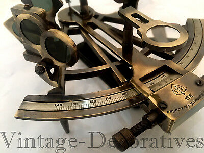 Antique Maritime Brass Sextant Handmade Nautical Ship Navigation Working Sextant