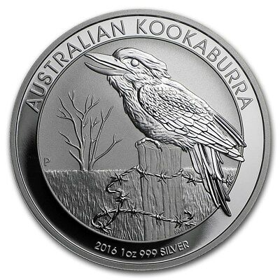 2016 Australia Kookaburra 1 Ounce .999 Silver Coin from Sealed Roll