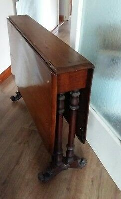 antique sutherland table, drop leaf table