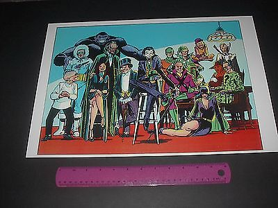 Dc Comics The Legion Of Super-Villains Poster Pin Up Captain Cold,Grodd,Joker