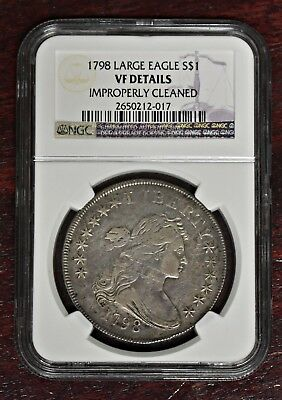 1798 Bust Dollar - Large Eagle - NGC VF Details (#11202)