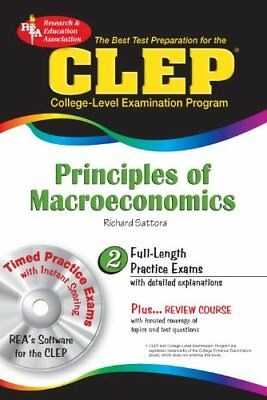 Clep Principles Of Macroeconomics __ Brand New With Cd Rom__ Freepost Uk