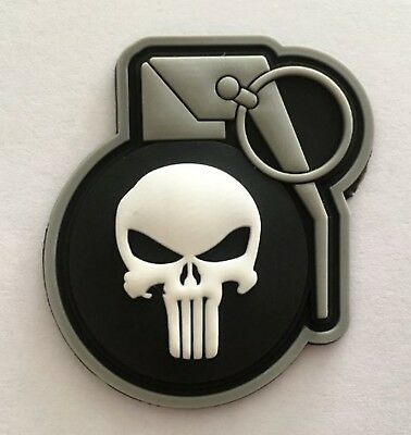 Punisher Hand Grenade 3D PVC Tactical Morale Patch