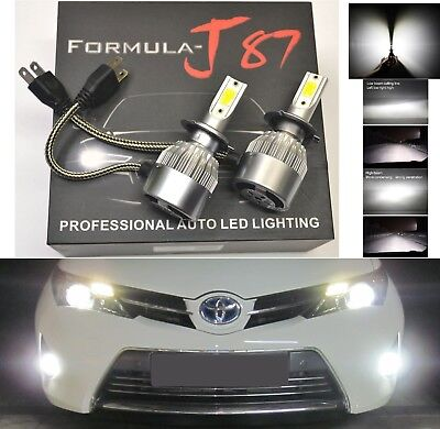 LED Kit C6 72W H7 6000K White Two Bulbs Head Light Low Beam Replace Upgrade Lamp