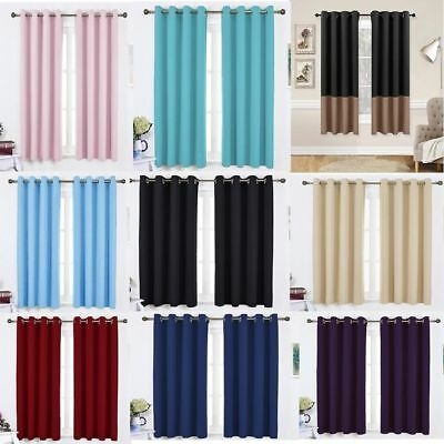 1 Pair Curtains Thermal Insulated Soundproof Fade-Resistant Bedroom Living Room