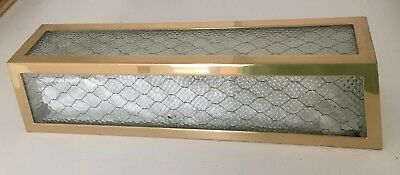 Waterworks 'Brasserie' Wall Sconce w/ Chicken Wire Glass in Unlacquered Brass
