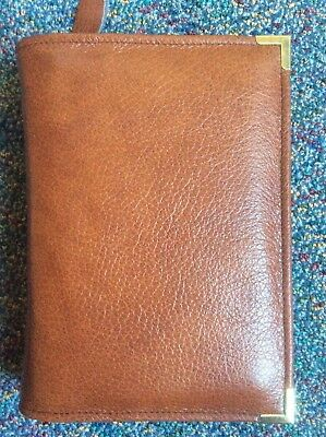 Genuine  chestnut leather bible cover for standard new world version (DLbi12-E)