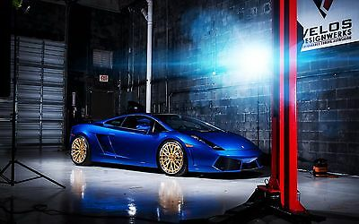 "Lamborghini Gallardo Blue Car Mini Poster 13/""x19/"" HD"