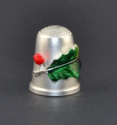 Julius Wengert Sterling Silver 925 Germany Thimble - Christmas - Sale Collection