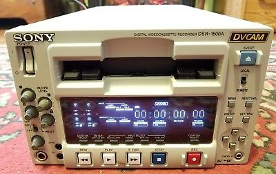 Sony DSR-1500A DVCAM & MiniDV Player/Recorder RS-422 DVCPRO USED Clean Working