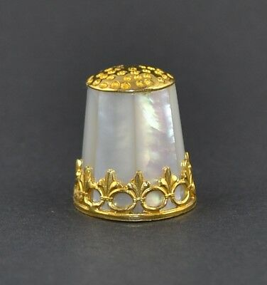Sterling Silver & Mother Of Pearl Thimble - Sale Collection