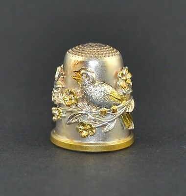 Julius Wengert Sterling Silver 925 Germany Thimble - Songbirds - Sale Collection