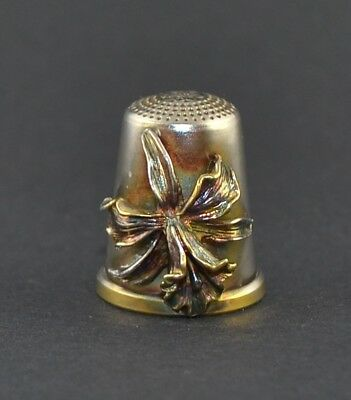 Julius Wengert Sterling Silver 925 Germany Thimble - Lily -Sale Collection