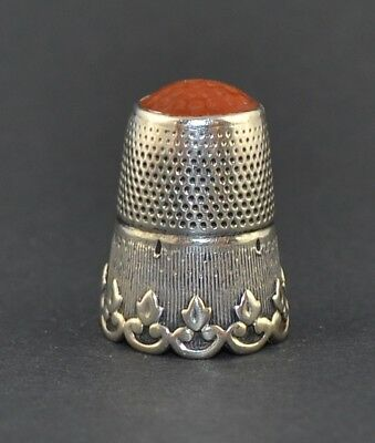 Sterling Silver Orange Top Thimble - Sale Collection