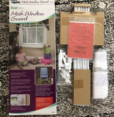 """Kidco Mesh Window Guard S303 26""""- 40"""" Wide White Child Safety Cover"""