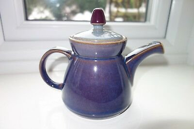 Denby Storm Purple or Plum and Grey TSAR Teapot - Brand New