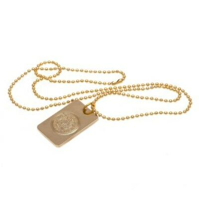 Leicester City F.c. Gold Plated Dog Tag And Chain
