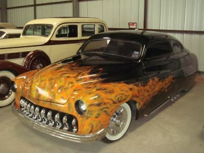 1950 Mercury 2dr/ black w/ Flames Satans Ride black w/ red gator inserts 1950 Mercury Satans Ride Ulitmate Lead Sled