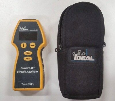 IDEAL  61-165 Sure Test Circuit Analyzer, Case and Test Cable REDUCED