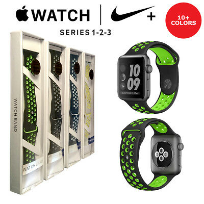 Apple Watch Replacement Strap 38mm 42mm Series 1 2 3 Nike+ New Boxed Sports Band