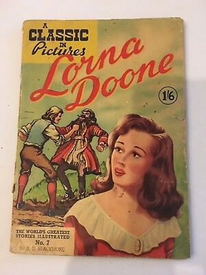 LORNA  DOONE A classic In Pictures #7 British version Classics Illustrated Comic