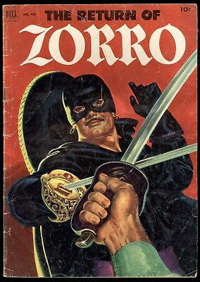 Four Color (1942) #425 1st Print The Return Of Zorro Great Painted Cover GD/VG