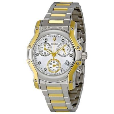 Bulova 98P120 Women's Wintermoor Chronograph Two-Tone Stainless Steel Date Watch