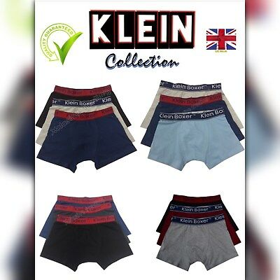 boys boxer shorts klein designer trunks kids boxers mix colours cotton rich ages