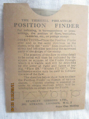 Thirkell stamp position finder from early 1900's
