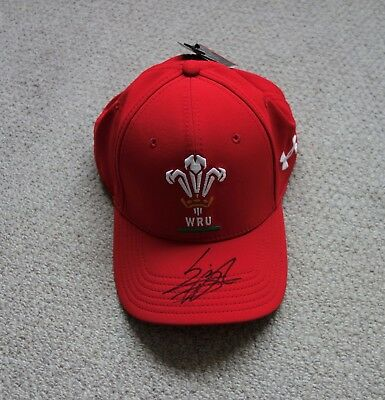 Leigh Halfpenny Hand Signed Wales Rugby Union Cap with COA