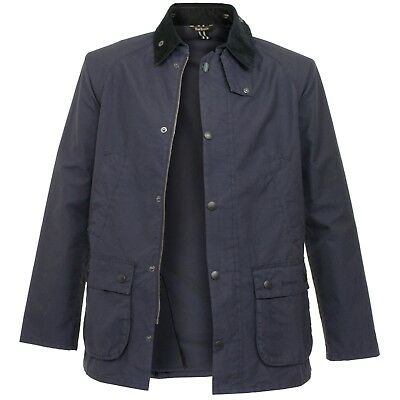 NEW mens L barbour washed cotton bedale Jacket navy blue MCA0369 colab w/ j crew