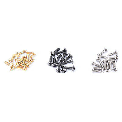 50pcs Guitar Bass Pickguard Screws for Electric Guitar Chrome/ Gold/ Black FO