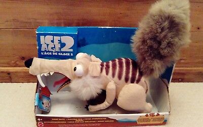"""ICE AGE 2 - Goin' Nutz SCRAT - 10"""" Electronic Squirrel/Rat with Nut. *Working*"""