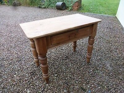 Victorian Rustic Pine Washstand With Single Draw