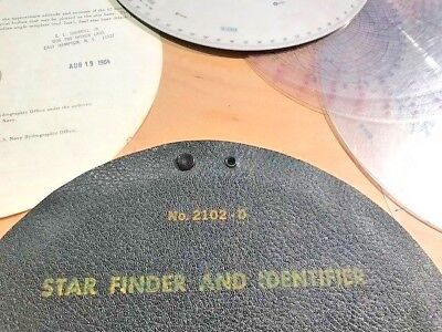 U.S.Navy -Star finder and Identifier #2102-D, complete original set