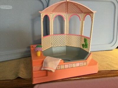 Vintage Barbie Hot Tub Jacuzzi Pool Spa Gazebo