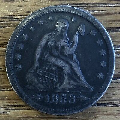1853 <ARROWS> & RAYS Seated Liberty Quarter SCARCE Type NICE Detail *NO RESERVE