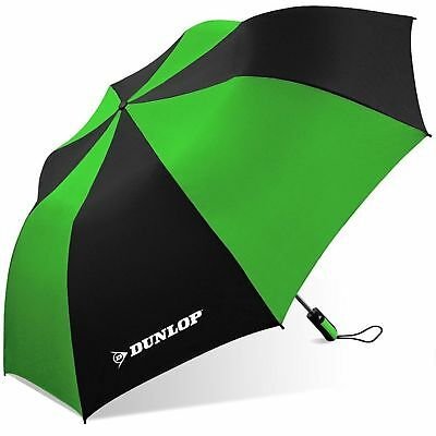 DUNLOP ,56' Folding Golf Umbrella, With Double Canopy Windproof Frame, GREEN