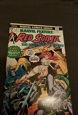 Marvel Feature #1 w/ Red Sonja Bronze age Great condition.