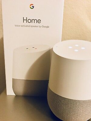 Google Home - White Slate, Voice Activated, Google Assistant -BRAND NEW