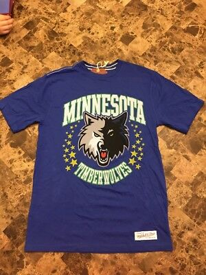 Mitchell   Ness Minnesota Timberwolves Graphic NBA Basketball Shirt Size  Small 26aa95536